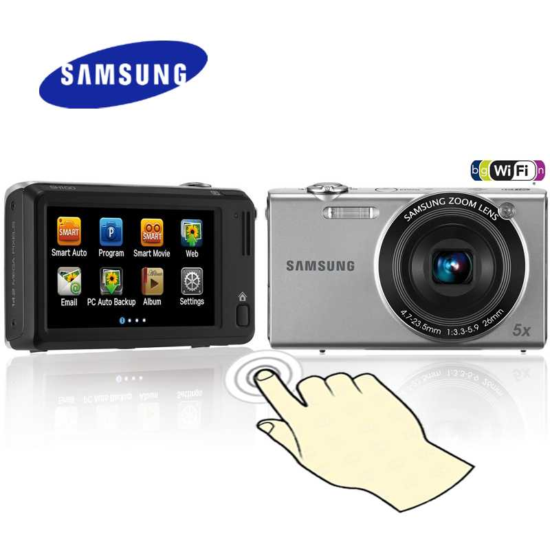 samsung sh 100 touch digital camera wifi price in. Black Bedroom Furniture Sets. Home Design Ideas