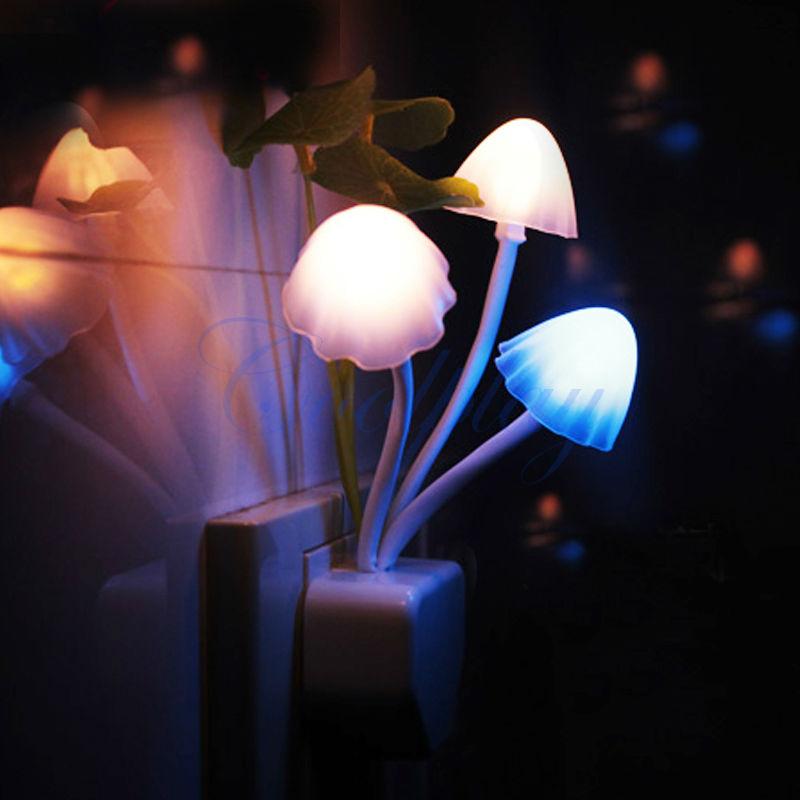 LED mushroom light with sensor