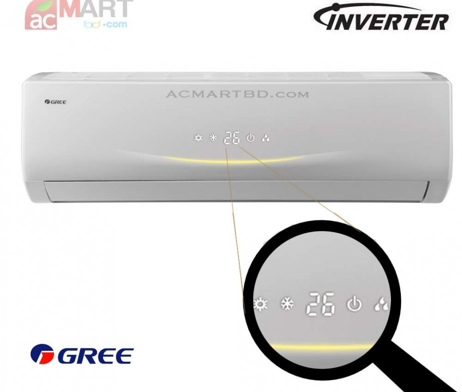 Gree 1 Ton Gs 12vv Inverter With Hot And Cool Air